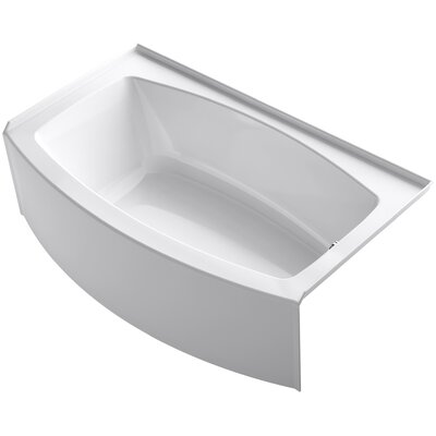 Expanse 60 x 30-36 Soaking Bathtub Finish: White, Drain Location: Right