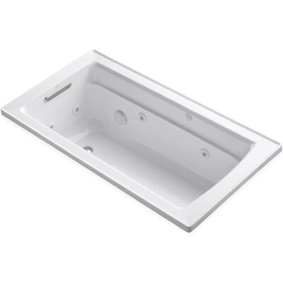 Archer 60 x 32 Whirpool Bathtub Finish: White