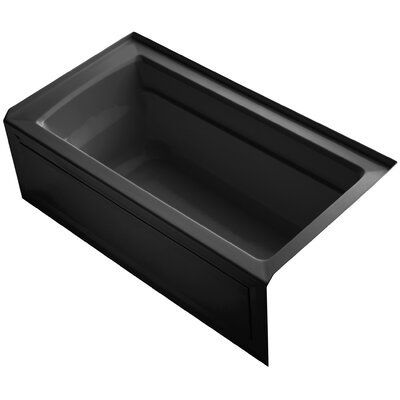 Archer 60 x 32 Soaking Bathtub Finish: Black Black, Drain Location: Right