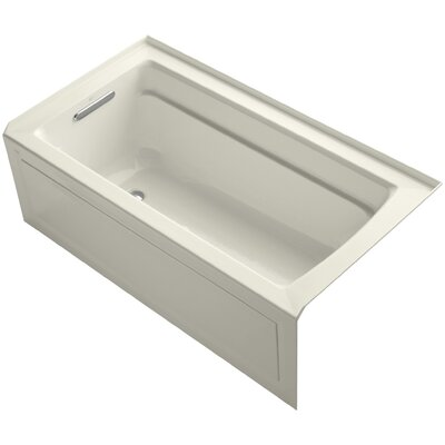 Archer Alcove Bubblemassage 60 x 32 Whirpool Bathtub Sink Finish: Biscuit