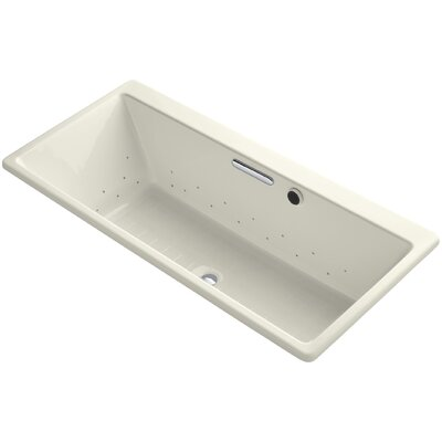 Reve 67 x 32 Air Bathtub Finish: Biscuit, Jet Finish: Polished Chrome