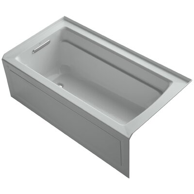 Archer 60 x 32 Soaking Bathtub Finish: Ice Grey, Drain Location: Left