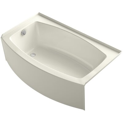 Expanse 60 x 30-36 Soaking Bathtub Finish: Biscuit, Drain Location: Left