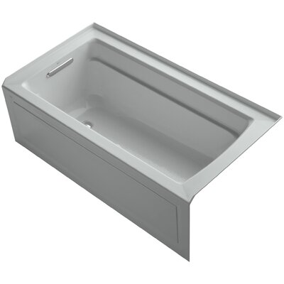 Archer 60 x 32 Air Bathtub Finish: Ice Grey, Drain Location: Left