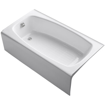Dynametric Alcove 60 x 32 Soaking Bathtub Finish: White