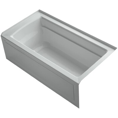 Archer 60 x 32 Air Bathtub Finish: Ice Grey, Drain Location: Right