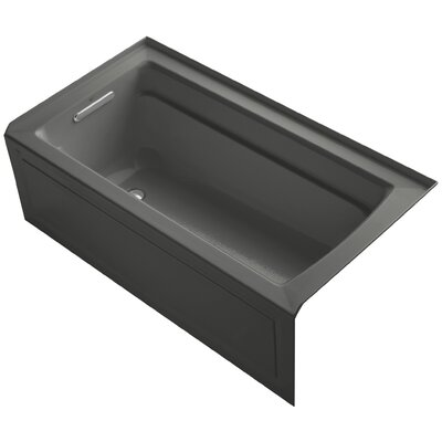 Archer 60 x 32 Soaking Bathtub Finish: Thunder Grey, Drain Location: Left