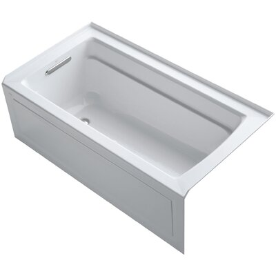 Archer 60 x 32 Air Bathtub Finish: White, Drain Location: Left