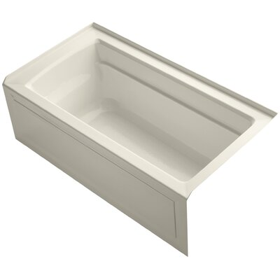 Archer 60 x 32 Soaking Bathtub Finish: Almond, Drain Location: Right