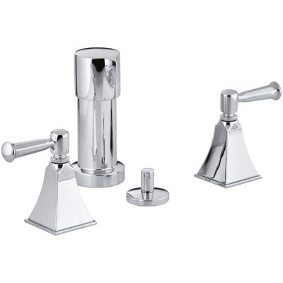 Memoirs Stately Vertical Spray Bidet Faucet with Lever Handles Finish: Polished Chrome