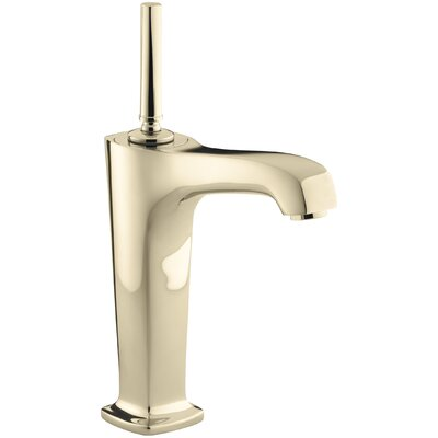 Margaux Single hole Single Handle Bathroom Faucet with Drain Assembly Finish: Vibrant French Gold