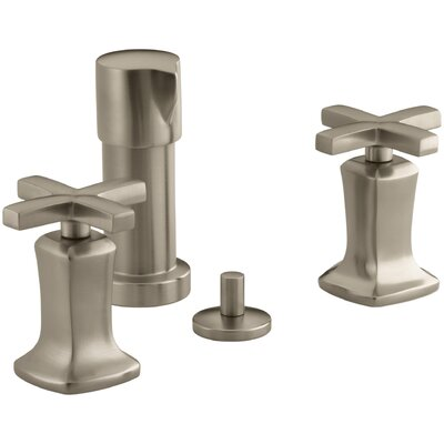 Margaux Vertical Spray Bidet Faucet with Cross Handles Finish: Vibrant Brushed Bronze