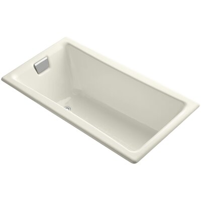 Tea for Two for Two 60 x 32 Soaking Bathtub Finish: Biscuit