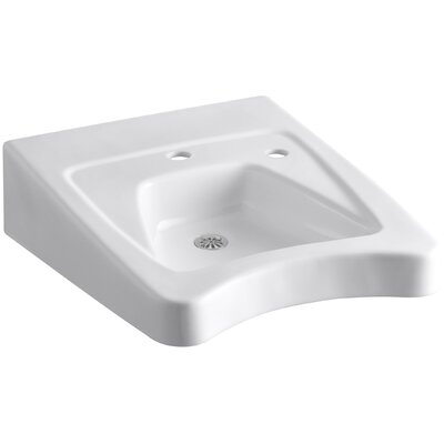 Morningside Ceramic 20 Wall Mount Bathroom Sink with Overflow Finish: White
