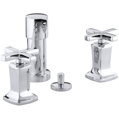 Margaux Vertical Spray Bidet Faucet with Cross Handles Finish: Polished Chrome