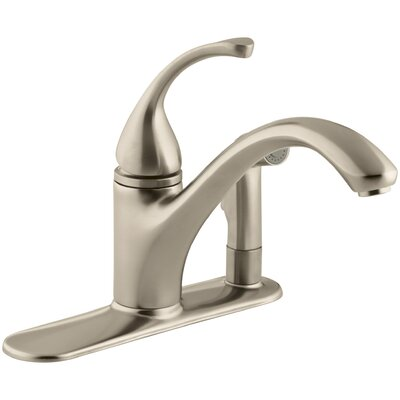 Fort� 3-Hole Kitchen Sink Faucet with 9-1/16 Spout with Matching Finish Sidespray In Escutcheon Finish: Vibrant Brushed Bronze