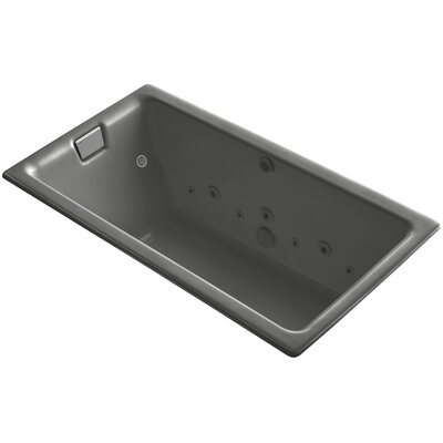 Tea-For-Two 66 x 36 Whirlpool Bathtub Finish: Thunder Grey