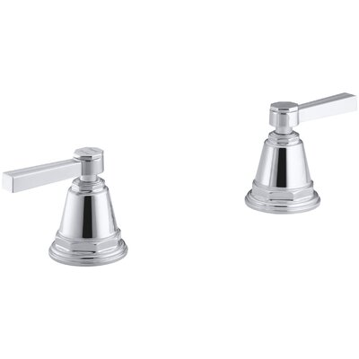 Pinstripe Deck-Mount High-Flow Bath Valve Trim with Lever Handles, Handles Only, Valve Not Included Finish: Polished Chrome