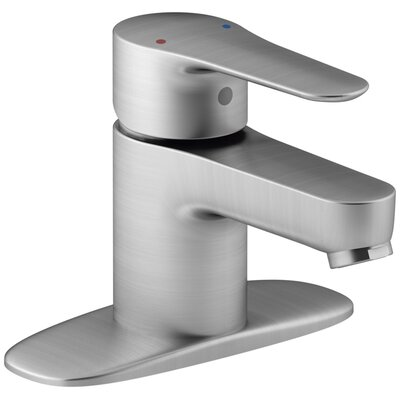 July Single-Handle Bathroom Sink Faucet with Escutcheon Finish: Brushed Chrome