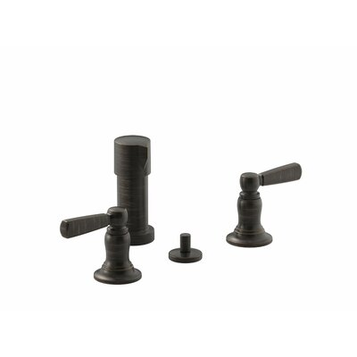 Bancroft Vertical Spray Bidet Faucet with Lever Handles Finish: Oil-Rubbed Bronze