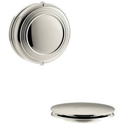 PureFlo Traditional Rotary Turn Bath Drain Trim Finish: Vibrant Polished Nickel