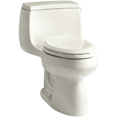 Gabrielle Comfort Height 1.28 GPF Elongated One-Piece Toilet Finish: Biscuit
