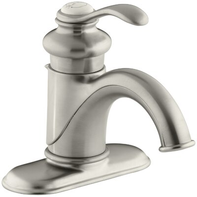 Fairfax Single hole Single Handle Bathroom Faucet with Drain Assembly Finish: Vibrant Brushed Nickel