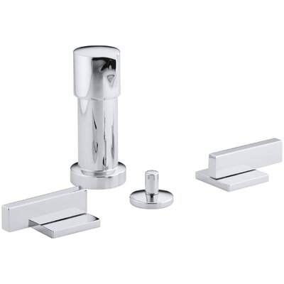 Loure Vertical Bidet Faucet with Lever Handles Finish: Polished Chrome