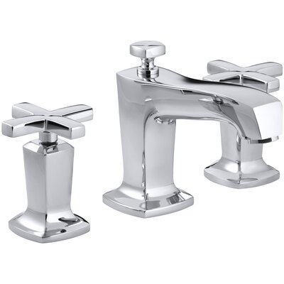 Margaux Widespread Bathroom Sink Faucet with Cross Handles Finish: Polished Chrome