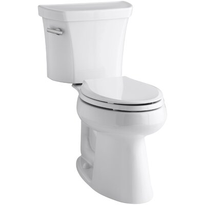 Highline Comfort Height Two-Piece Elongated 1.28 GPF Toilet with Class Five Flush Technology and Left-Hand Trip Lever Finish: White