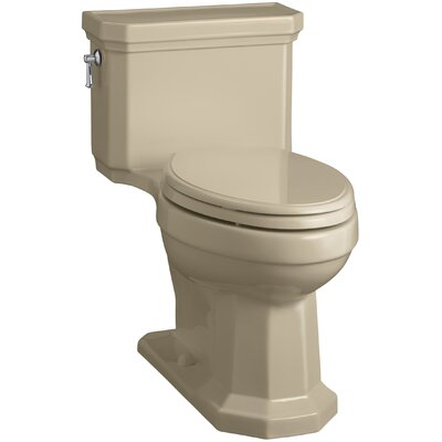 Kathryn Comfort Height Elongated One-Piece 1.28 GPF Toilet with Aquapiston Flush Technology, Left-Hand Trip Lever and Concealed Trapway Finish: Mexican Sand