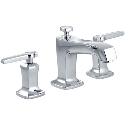 Margaux Widespread Bathroom Sink Faucet with Lever Handles Finish: Polished Chrome