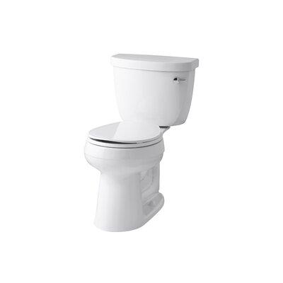 Cimarron 1.6 GPF 2 Piece Round-Front Toilet Finish: White