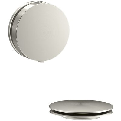 PureFlo Contemporary Rotary Turn Bath Drain Trim Finish: Vibrant Brushed Nickel
