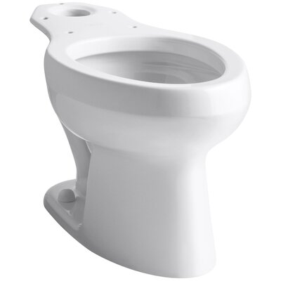 Wellworth Toilet Bowl with Pressure Lite Flushing Technology, Less Seat Finish: White