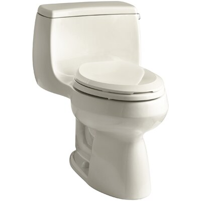 Gabrielle Comfort Height 1.28 GPF Elongated One-Piece Toilet Finish: Almond