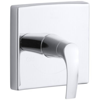 Symbol Valve Trim with Lever Handle for Thermostatic Valve, Requires Valve Finish: Polished Chrome