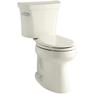 Groove Two-Piece Elongated 1.28 GPF Toilet with Class Five Flush Technology, Left-Hand Trip Lever, Insuliner Tank Liner and Tank Cover Locks Finish: Biscuit