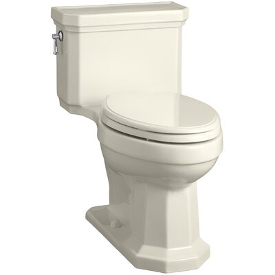 Kathryn Comfort Height Elongated One-Piece 1.28 GPF Toilet with Aquapiston Flush Technology, Left-Hand Trip Lever and Concealed Trapway Finish: Almond