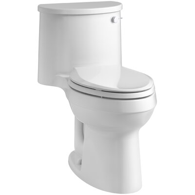 Adair Comfort Height 1.28 GPF Elongated One-Piece Toilet Finish: White