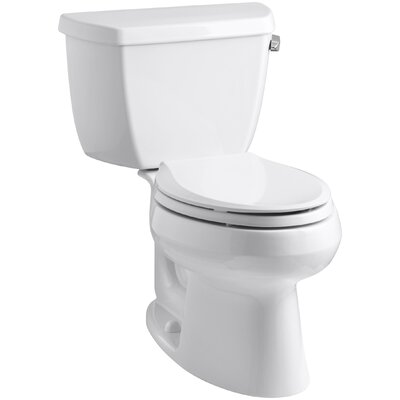 Wellworth Classic Two-Piece Elongated 1.28 GPF Toilet with Class Five Flush Technology, Right-Hand Trip Lever and Tank Cover Locks Finish: White