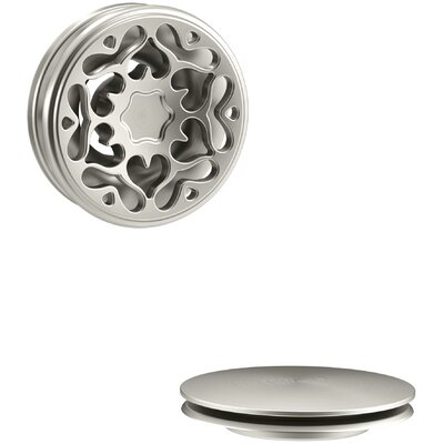 PureFlo Victorian Push Button Bath Drain Trim Finish: Vibrant Brushed Nickel