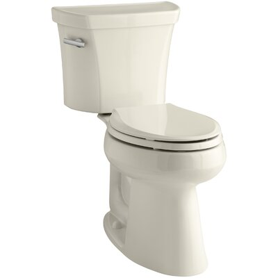 Groove Two-Piece Elongated 1.28 GPF Toilet with Class Five Flush Technology, Left-Hand Trip Lever, Insuliner Tank Liner and Tank Cover Locks Finish: Almond