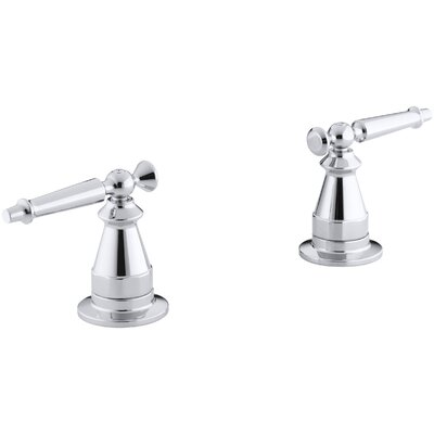 Antique Deck-Mount High-Flow Bath Valve Trim with Lever Handles, Valve Not Included Finish: Polished Chrome