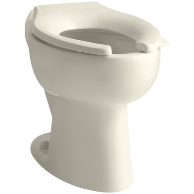 "Highcrest 1.6 GPF 16-1/2"" Ada Elongated Toilet Bowl with Rear Inlet, Requires Seat Finish: Almond K-4301-47"