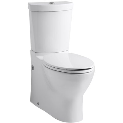 Persuade Skirted Two-Piece Elongated Dual-Flush Toilet with Top Actuator Finish: White