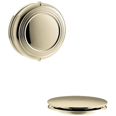 PureFlo Traditional Rotary Turn Bath Drain Trim Finish: Vibrant French Gold