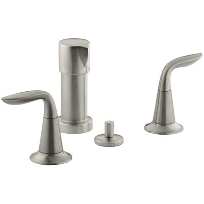 Refinia Vertical Spray Bidet Faucet with Lever Handles Finish: Vibrant Brushed Nickel