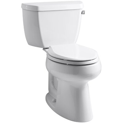 Highline Classic Comfort Height Two-Piece Elongated 1.28 GPF Toilet with Class Five Flush Technology and Right-Hand Trip Lever Finish: White