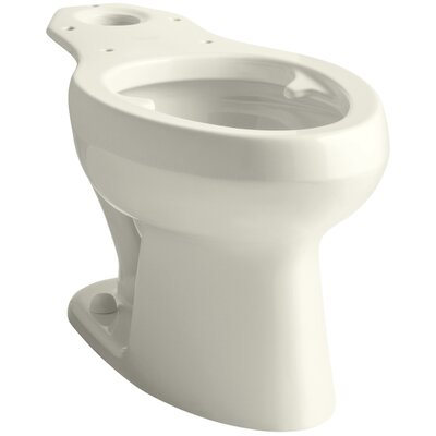 Wellworth Toilet Bowl with Pressure Lite Flushing Technology and Bed Pan Lugs Finish: Biscuit